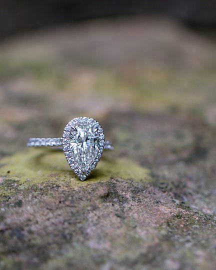Tear shaped ring