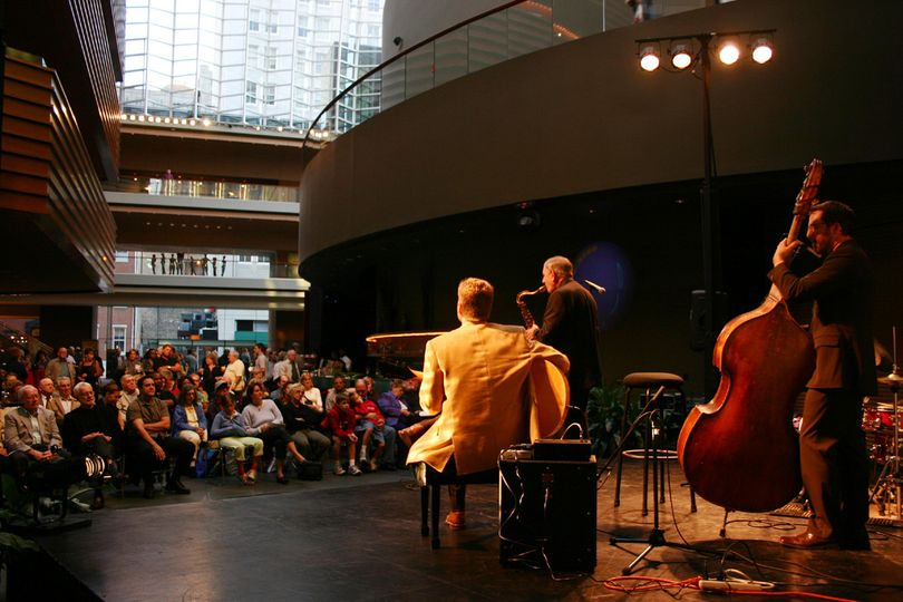 The Pete Smyser Quartet (jazz) performing at The Kimmel Center in Philadelphia.