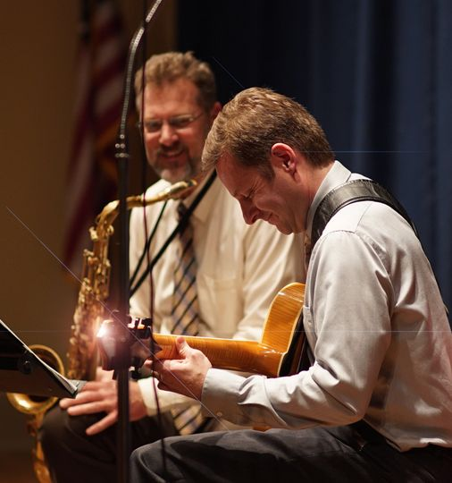 Live concert performance by Pete Smyser (guitar) & Ted Lis (sax)