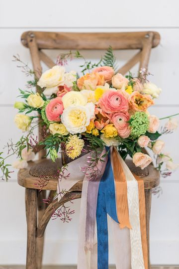 stylized shoot florals