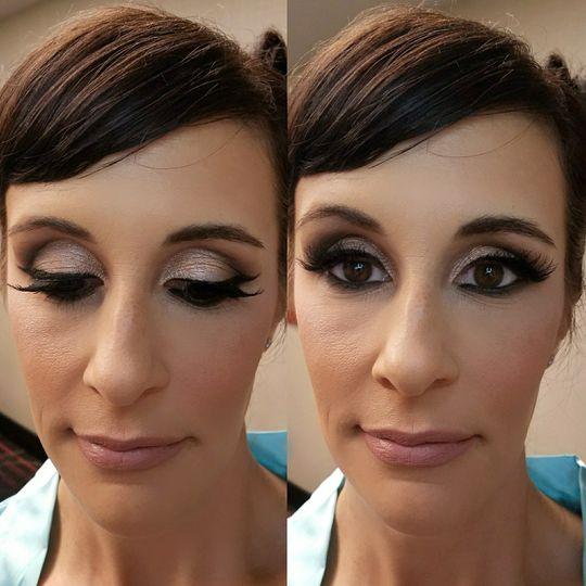 Cut crease eyeshadow