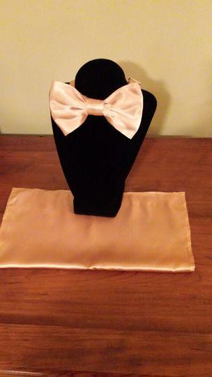 sun burst gold bowtie handkerchief set