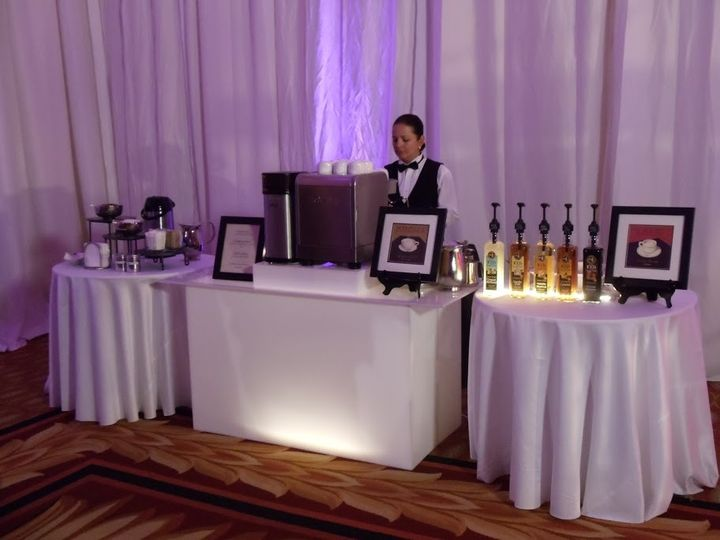 Wedding barista bar