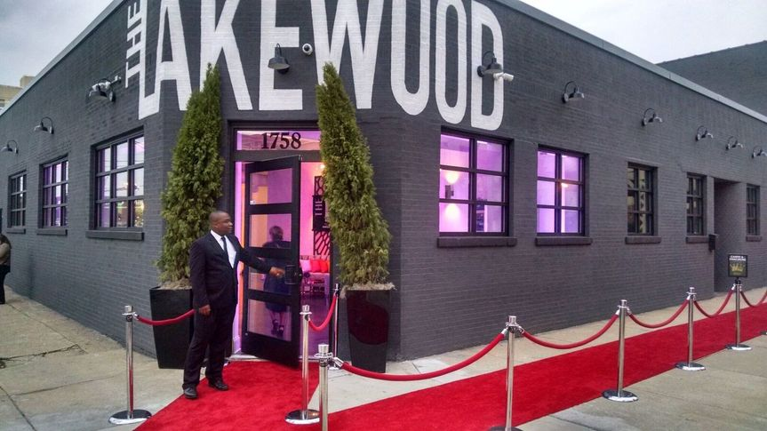 The Lakewood entrance