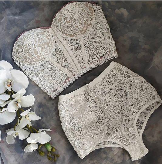Lace Bustier set