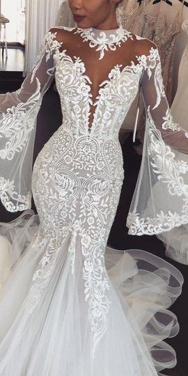 Bell Sleeve, Mermaid fitted