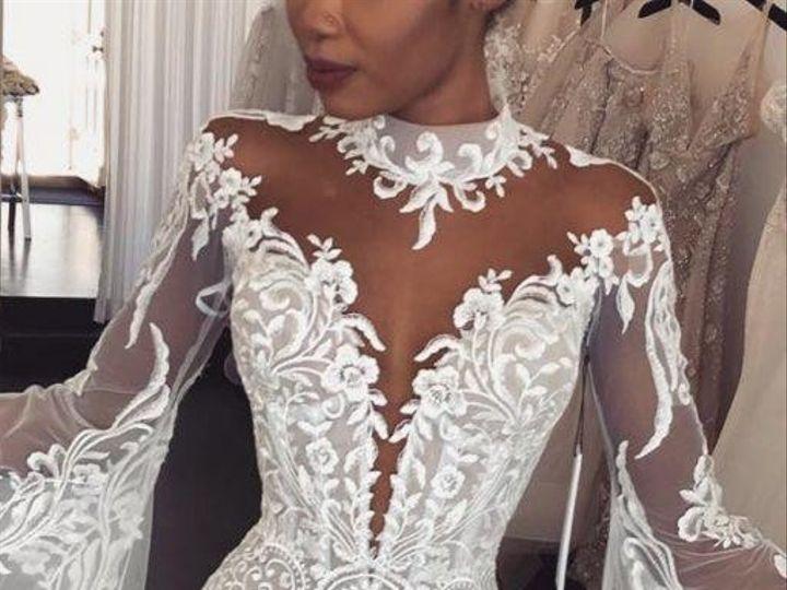 Tmx Lace Wedding Dresses With Sleeves Trumpet Illusion Neckline Leahdagloria 512x1024 51 1065407 1557612138 Kannapolis, NC wedding dress