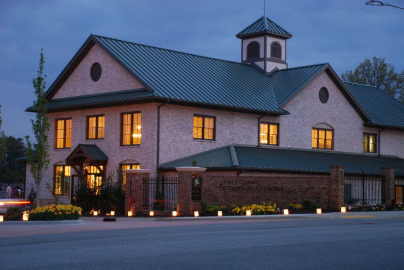 night view of welcome center during gala ms