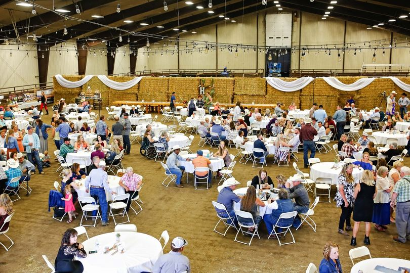 Indoor barn celebration