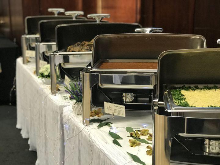 Indoor dinner buffet