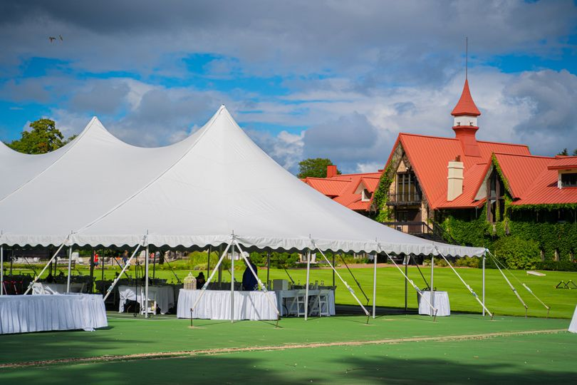Tented tennis courts