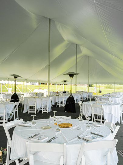 Tennis courts tented