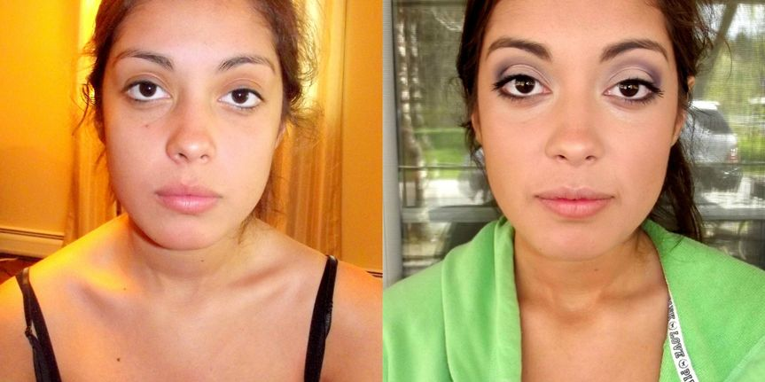 anjelica before and after prom makeup