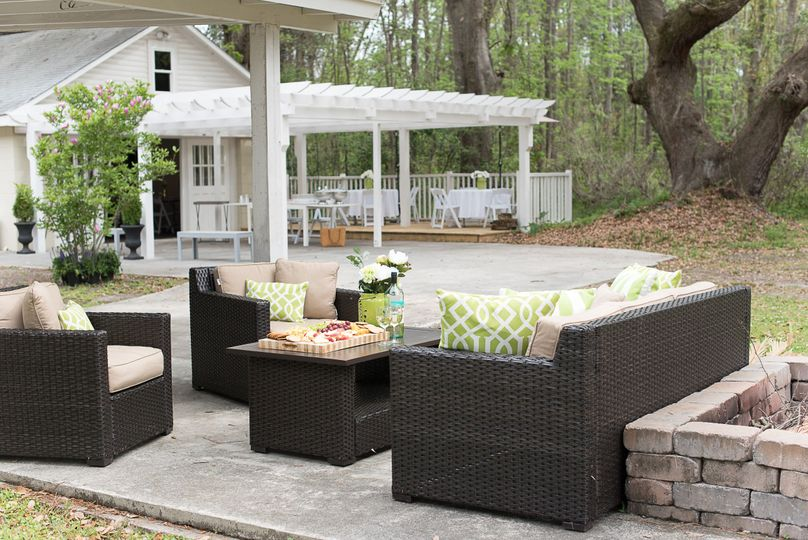 Adding outdoor furniture helps maximize the use of the outdoor space