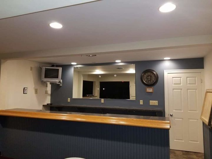 Bar with soda dispenser