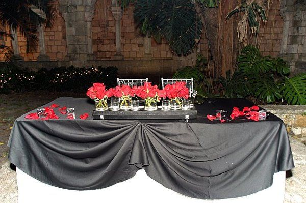 Guest Table Colors:  Black, Red & Silver