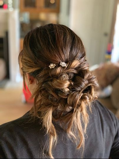 Bridal textured boho updo