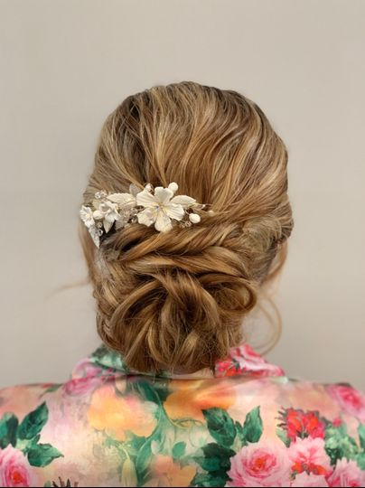 Textured bride updo