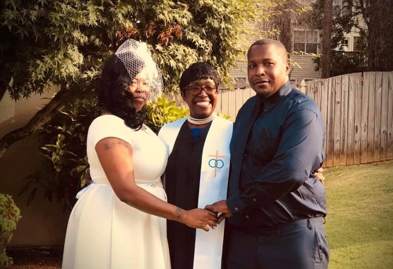 Joining a couple together in matrimony