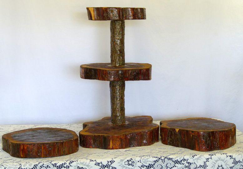 sw0002 rustic cupcake stand with side stands