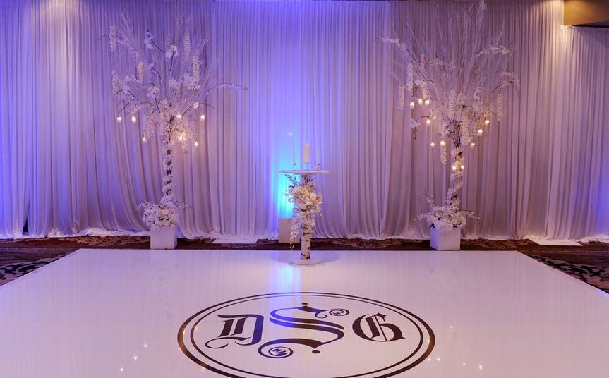 White wedding setup