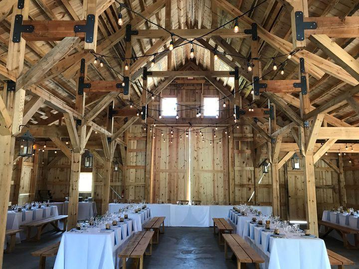 Empty reception barn