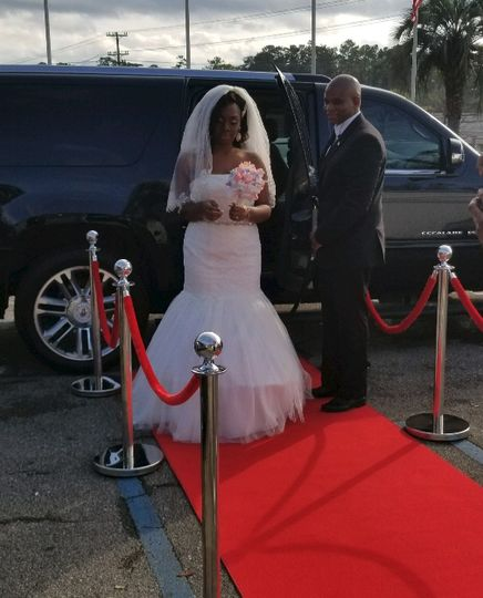 Bride on the red carpet