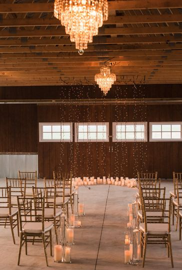 Ceremony setup and lighting