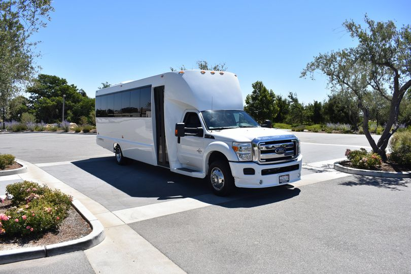 Luxury limousine bus