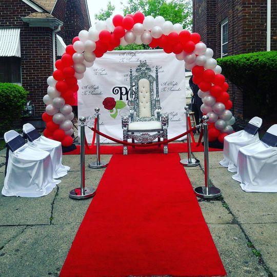 Prom send-off setup