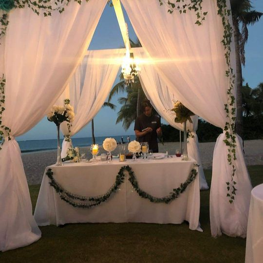 The bride groom table