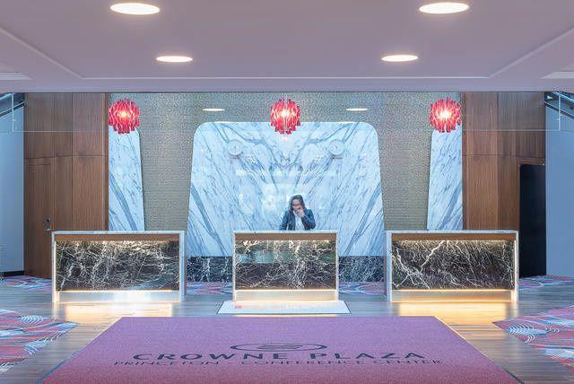 Crowne Plaza Princeton modern lobby
