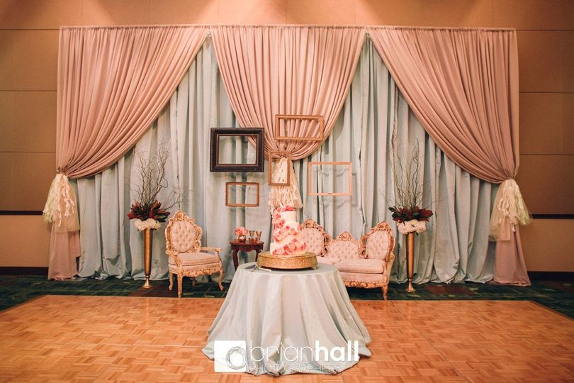 Event draping backdrop