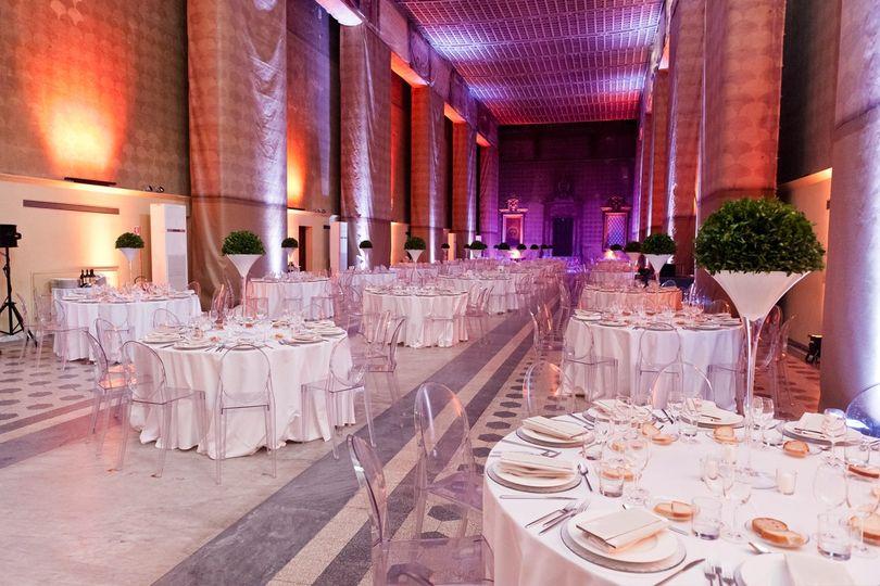 Wedding linen decor