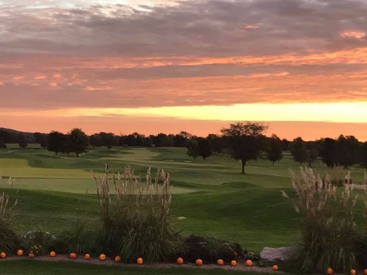 Sunset views on course