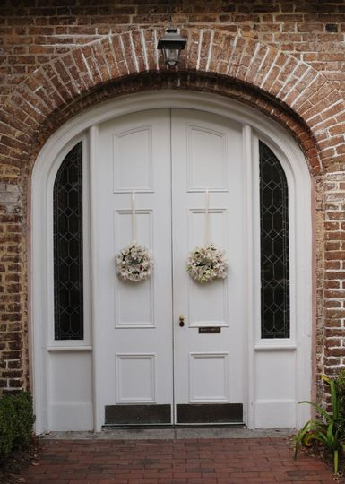 Main entrance to the chapel. Welcome to 'Happily Ever After'