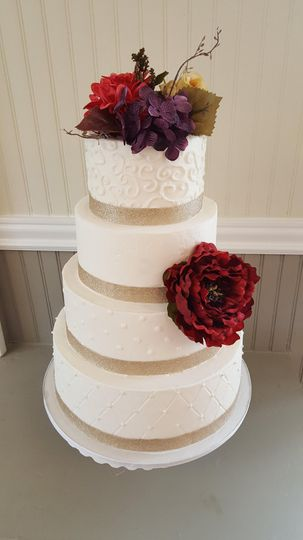 Scroll/quilted cake