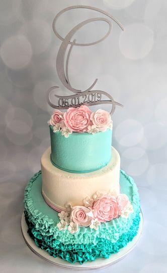 Teal Ombre Wedding