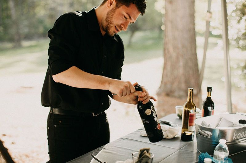 Bartending services at outdoor reception
