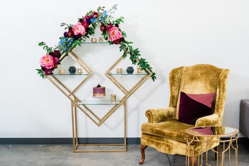 Styled cake lounge