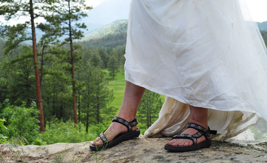 Showing off the tevas