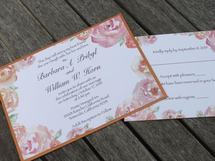 Tmx 1454692178945 Img5613 Fallbrook wedding invitation