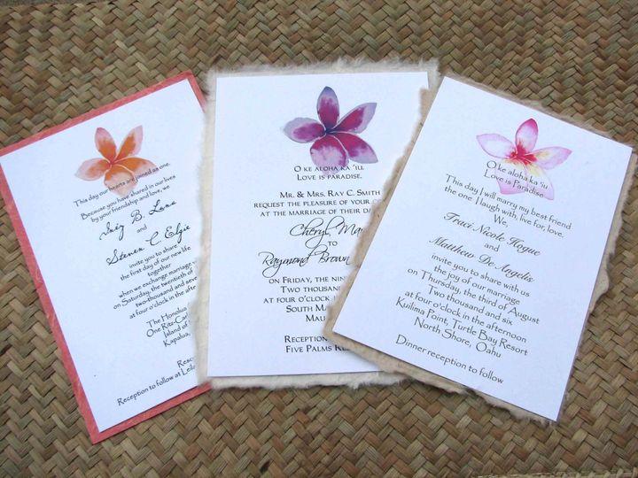 Tmx 1454693727668 Plumeriapassions Fallbrook wedding invitation