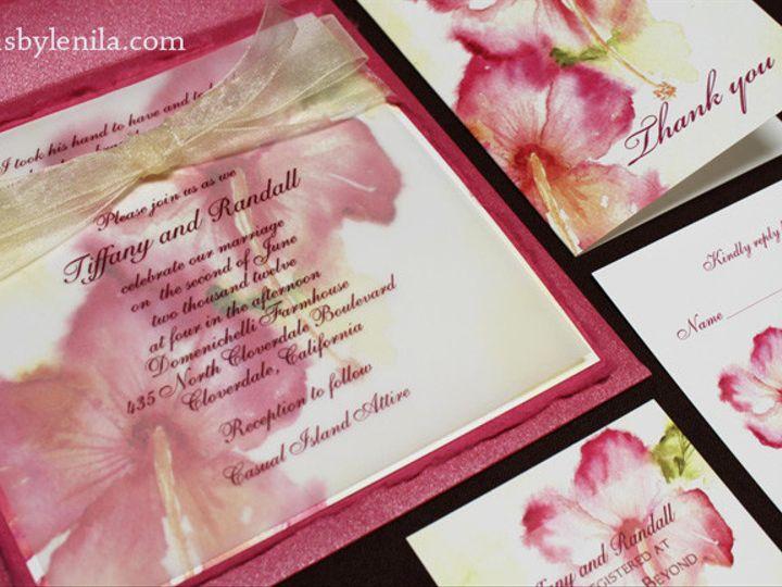 Tmx 1454693865188 Hibiscusinvite Fallbrook wedding invitation