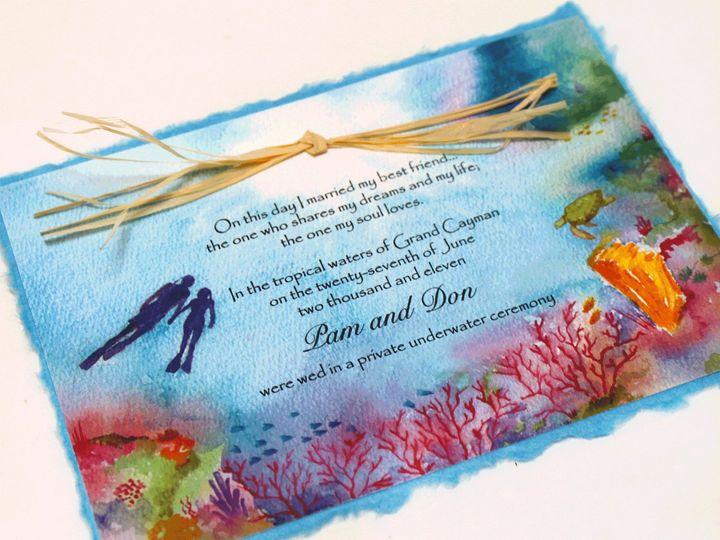 Tmx 1454693897274 Lovers Reef Invitation Fallbrook wedding invitation