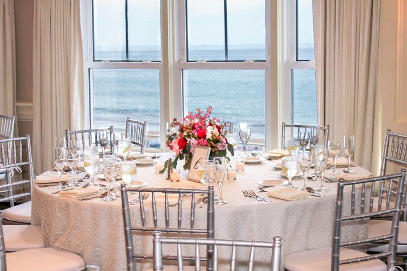 table floral ocean