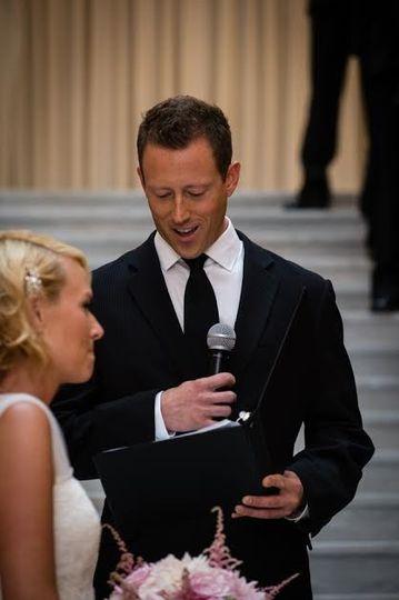 Ordained minister wedding speech