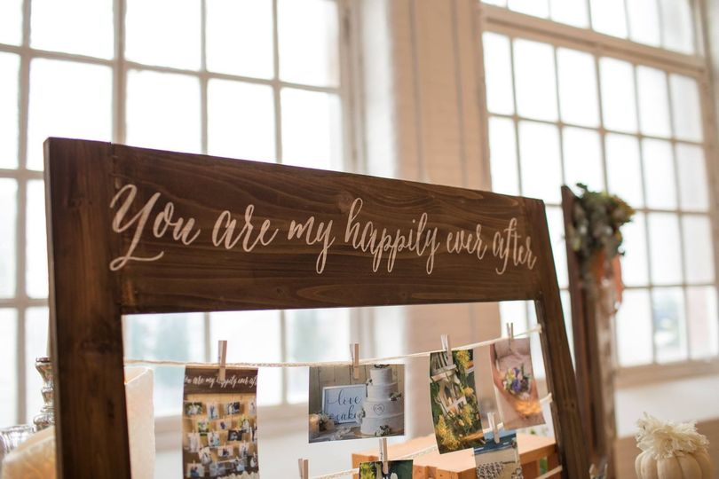 Our most rented decor item...You are my Happily ever After photo/seat arrangement holder.