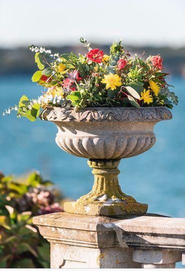 Custom Wedding Florals Urns