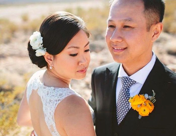 Asian newlyweds
